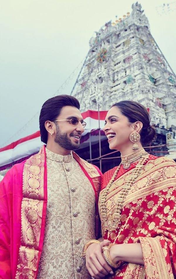 शादी की पहली सालगिरह पर तिरुमाला मंदिर पहुंचे रणवीर-दीपिका, देखें तस्वीरें