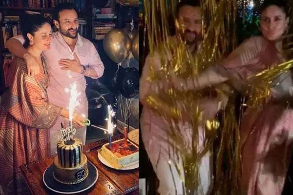 PICS: सैफ को जन्मदिन पर करीना कपूर ने दिया खास तोहफा, वीडियो किया शेयर