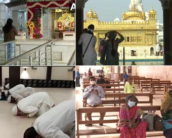 PICS: श्रद्धालुओं के लिए खुले मंदिरों के कपाट