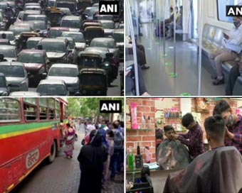 दिल्ली, महाराष्ट्र से लेकर यूपी तक, तस्वीरों में देखें अनलॉक शुरू होने के बाद का नजारा